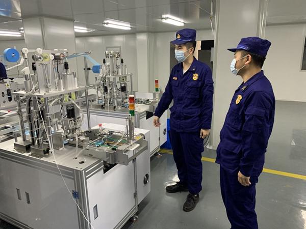 永安消防开展防疫物资生产企业消防安全指导