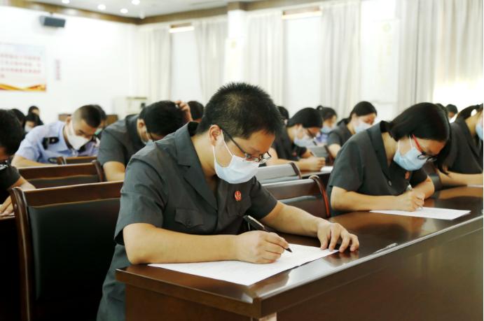 三明市梅列法院组织开展应知应会考试