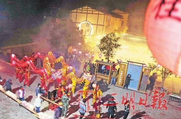 尤溪:桂峰举办迎龙灯盛会
